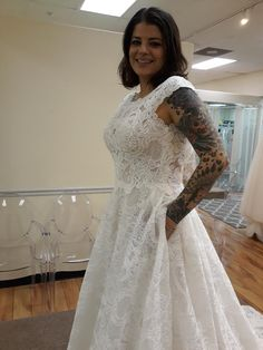 #T222014 #JasmineBridal #Couture #alloverlace #ballgown with #pockets.  A no brainer! Mothers Dresses, Girls Dresses, Flower Girl Dresses, Dream Wedding Dresses, Wedding Gowns, Jasmine Bridal, Lillian West, Bridal Boutique, Ball Gowns