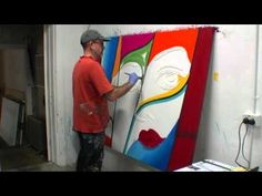 How to create a large abstract artwork demonstration tutorial Visit my website for details http://www.artfusionproductions.com.au