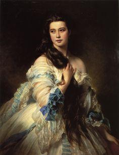 Madame Barbe de Rimsky Korsakov by Franz Xaver Winterhalter 1864 http://artpaintingartist.org/madame-barbe-de-rimsky-korsakov-by-franz-xavier-winterhalter/