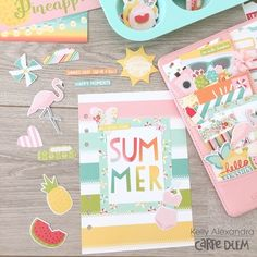 Carpe Diem planner with the Summer Days collection from creative team member Kelly Alexandra