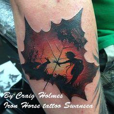 amazing!! leaf tattoo