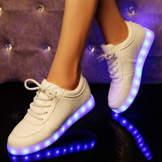 colorful led luminous rechargeable sneakers