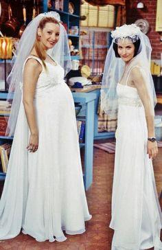 Phoebe and Monica wedding dresses - F.r.i.e.n.d.s