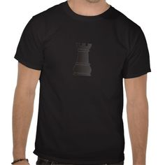 Cool t-shirt with the black rock chess piece graphic design. This design belongs to a collection and is available on other products here: chesspieces.peculiardesign.net