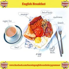 Good morning everyone  English breakfast.  What do you like to eat for breakfast? Please comment below.