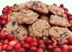 Gourmet Girl Cooks: Salted Cranberry Chocolate Chip Cookies *sugar free/gluten free & low carb