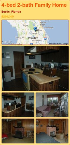 4-bed 2-bath Family Home in Eustis, Florida ►$250,000 #PropertyForSale #RealEstate #Florida http://florida-magic.com/properties/23011-family-home-for-sale-in-eustis-florida-with-4-bedroom-2-bathroom