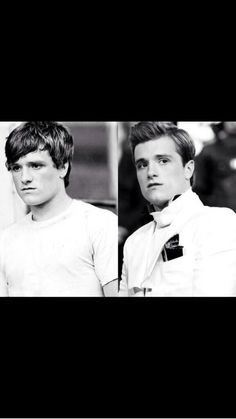 Peeta in The Hunger Games and in Catching Fire