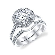 wedding bands for halo rings - Google Search