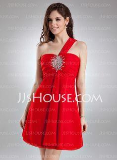 4b7612d39b44 Homecoming Dresses -  118.99 - Empire One-Shoulder Short Mini Chiffon  Homecoming Dress With