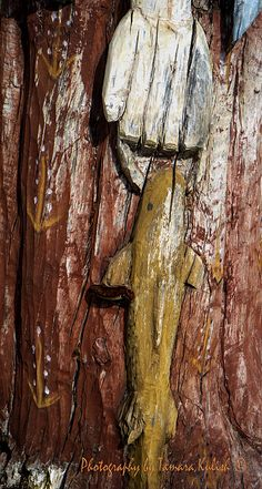 Wooden Carving in Santa Fe 5, from a series of public sculptures in a green space along Paseo de Peralta
