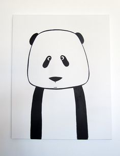 No 007 Modern Kids And Nursery Art Custom By Adrianeduckworth 76 00 Panda Baby