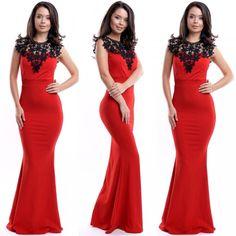 Rochie de seara lunga rosie cu aplicatii din broderie Mermaid, Formal Dresses, Fashion, Tulle, Embroidery, Dresses For Formal, Moda, Formal Gowns, Fashion Styles