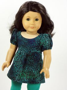 American Girl Doll Clothes -- Tunic Top & Capri Leggings -- 2 Piece Outfit (3-38) on Etsy, $17.00