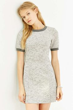 Silence + Noise Scuba Seamed Tee Dress - Urban Outfitters