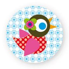 sticker vrolijke vogel