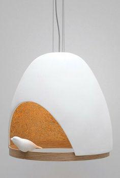 Oak pendant #lamp OISEAU by Compagnie | #design Olivier Chabaud, Jean-François Bellemère