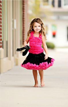 luxusní Petti Tutu sukně - černá-růžová