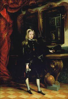 [Baroque] Charles II, King of Spain, by Juan Carreño de Miranda, 1673-1675