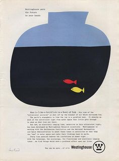 Westinghouse Ad , Paul Rand _포스터스타일