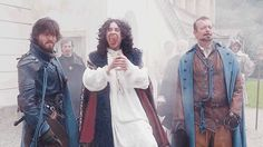 The Musketeers series 2/3. The King is fetched from his breakfast to watch Alaman demonstrate the gunpowder.