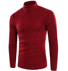 Mens Turtleneck Slim Fit Long Sleeve Lightweight Soft Knitted Pullover Realdo Mens Perfect Striped Sweater