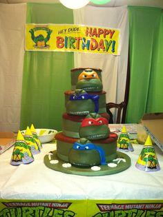 tmnt cake ideas | Homemade Teenage Mutant Ninja Turtles Birthday Cake Picture