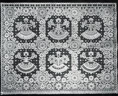 А. Ф. Блинова. Панно 'Праздник'. 1977.lace from Vyatka . Russia