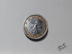 The one euro coin - drawing by marcellobarenghi.deviantart.com on @deviantART