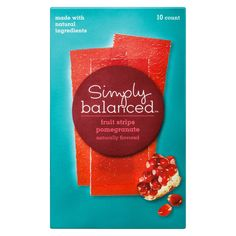 Pomegranate Fruit strips 10 ct - Simply Balanced