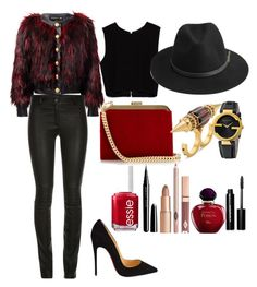 """""""night out with the girls"""" by jmonroe0817 on Polyvore featuring Balmain, Zara, Christian Louboutin, BeckSöndergaard, Essie, Marc Jacobs, Bobbi Brown Cosmetics, Christian Dior, Gucci and Alexander McQueen"""