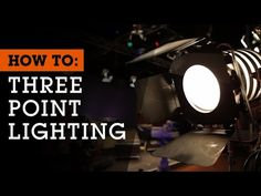 ▶ How To Set Up 3-Point Lighting for Film, Video and Photography - YouTube