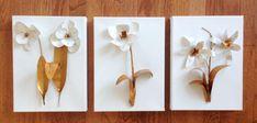 Aprenda a seguir como fazer quadrinhos com flores de latinha passo a passo, para repaginar a sua cas