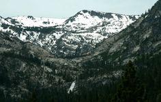 Mountains surrounding Lake Tahoe