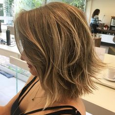 Shaggy Brown Bob With Highlights