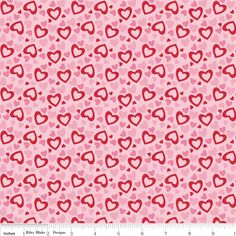 Riley Blake Designs - Holiday Banners - Hearts in Multi