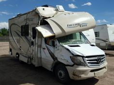Salvage For Sale Camper Life, Rv Life, Thor, Super C Rv, Class B Rv, Camper Van Conversion Diy, Toyota Cars, Ford Transit, Rv Travel