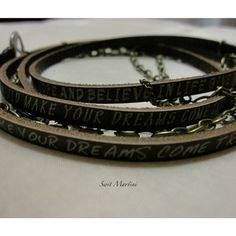 Jewelry that reminds you to believe!! LOVE! I love these bracelets!