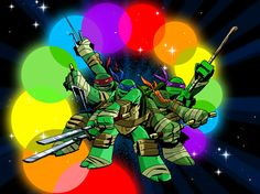 Shell SHOCK! never seen the turtles so colorful! join the TMNT army: http://sot.ag/g7HC/