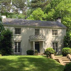 Limestone & Boxwoods - Instagram (@limestonebox) - Great iron work and limestone lintels on this house in the Morningside / Lenox Park neighborhood of Atlanta.