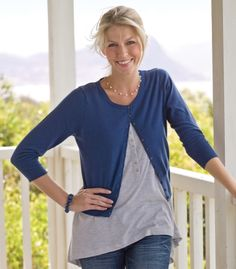 Cropped Cardigan | Women's | Cotton & Silk | Wool Overs