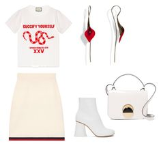 """Untitled #32"" by amandaberger on Polyvore featuring Gucci, MM6 Maison Margiela and Marni"