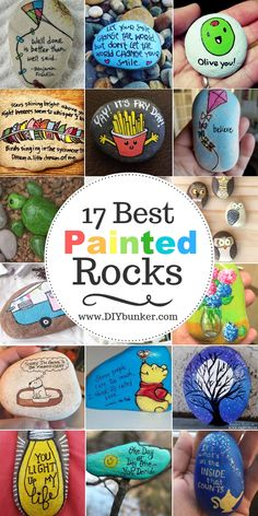 These painted rock ideas are the cutest! If you're thinking of joining the kindness rocks project, this is where to start! These painted rocks are a great way to bring inspiration into the lives of others. They're easy to DIY and cheap to make too! Rock Painting Patterns, Rock Painting Ideas Easy, Rock Painting Designs, Rock Painting Ideas For Kids, Dollar Store Crafts, Crafts To Sell, Easy Crafts, Diy And Crafts, Sell Diy