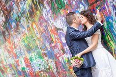 Lennon Wall in Prague Prague, Dream Wedding, Wedding Photography, Weddings, Wall, Painting, Wedding, Painting Art, Walls
