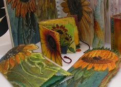 'Sunflower' sketchbooks and books (click to enlarge) Frances Pickering
