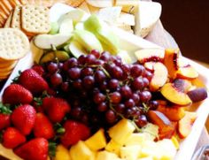 Easy Homemade Holiday Appetizers- Cheese and Fruit Plate - Click pic for 24 Christmas  Finger Food Ideas