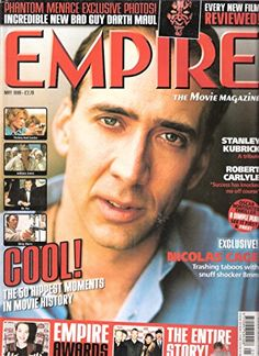 EMPIRE magazine MAY 1999 Nicholas Cage Pre-owned in very good clean condition. Please see larger photo and full description for details. Movie Magazine, Large Photos, Stanley Kubrick, Indiana Jones, Rage, Thriller, Empire, The Incredibles, In This Moment
