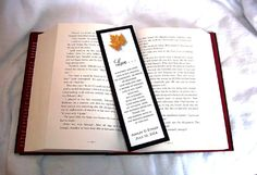 100 Fall Leaf Bookmarks.  Price includes by creatingapapermemory. Perfect for any wedding.