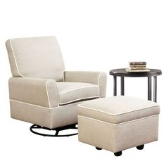 Darby Home Co Shelbyville Swivel Glider Recliner and Ottoman & Reviews | Wayfair
