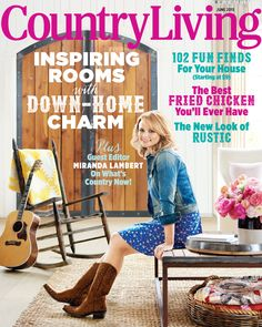 Miranda Lambert and Old Gringo Boots on the cover of Country Living Magazine, it just doesn't get any better than this! Interiors Magazine, Interior Design Magazine, Best Interior Design, Miranda Lambert, Country Singers, Country Music, Country Living Magazine, Displaying Collections, Cool Countries